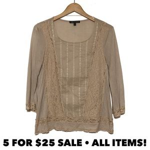 Cable & Gauge Mixed Media Blouse